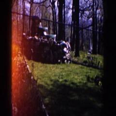 1959: random rock walls in a private person's yard. MICHIGAN Stock Footage