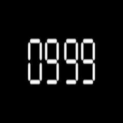 Digital timer countdown-31 Stock Footage