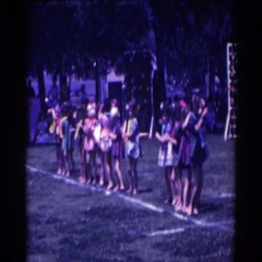 1961: a group of children dancing in a line NORTH HOLLYWOOD, CALIFORNIA Stock Footage