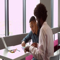 Tutor And Dyslexic Student Using Learning Aids Shot On R3D Stock Footage