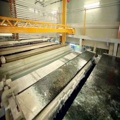 The anodizing. The process of anodizing of aluminum in the enterprise. Stock Footage