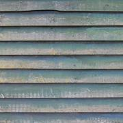 Bluish green planks of shed or fence sq  0115 Stock Photos
