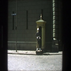 1975: guard at their post STOCKHOLM Stock Footage