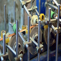 A lot of moving parts. Conveyor for transporting and processing of aluminum. Stock Footage
