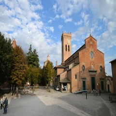 Cathedral of Santa Maria Assunta and Jenesien in the San Miniato, Tuscany, Italy Stock Footage