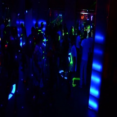 Party with dancing in a nightclub. Express Timelapse shooting Stock Footage