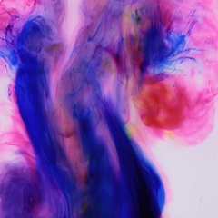 Colorful ink in water, ink drop. Motion ink in water on white background Arkistovideo