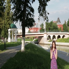 The girl in the summer Park on the river. Stock Footage