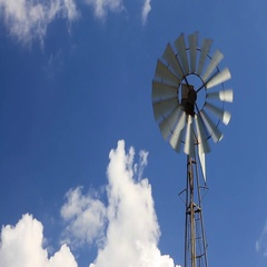 Old-style windmill Stock Footage