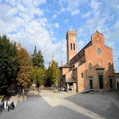 Cathedral of Santa Maria Assunta and Jenesien in the San Miniato, Tuscany, Italy Stock Footage