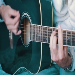 Man Playing Acoustic Guitar Stock Footage