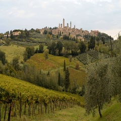 Medieval town of San Gimignano, Tuscany, Italy Stock Footage