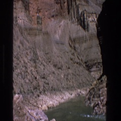 1969: hilly sand greenery desert observation travel motion UTAH Stock Footage