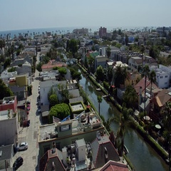 Venice beach canals Stock Footage