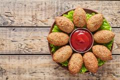 Kibbeh traditional middle eastern homemade beef, lamb, goat or camel meat Stock Photos