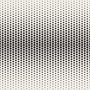 Vector Seamless Black and White Halftone Random Squares Pattern Stock Illustration