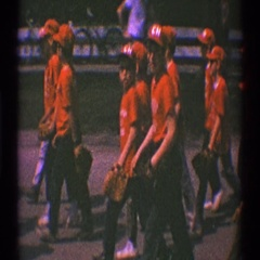 1969: a small town's parade event. CLARENDON HILLS ILLINOIS Stock Footage