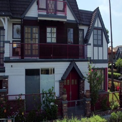 Venice beach canals homes Stock Footage