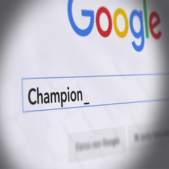 Google Search Engine - Search For Champions League Final Stock Footage