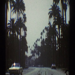 1969: driving home LOS ANGELES CALIFORNIA Stock Footage
