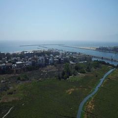 Playa Del Rey aerial toward ocean Stock Footage