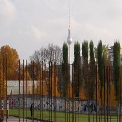 Berlin Wall outdoor museum Stock Footage