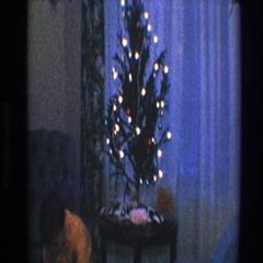 1968: a small christmas celebration, TOLEDO OHIO Stock Footage