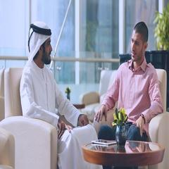Businessmen using digital tablet. Stock Footage