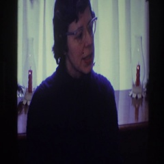1968: a woman wearing pointed glasses on her face TOLEDO OHIO Stock Footage