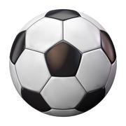 Soccer Ball Football Isolated on White Stock Illustration