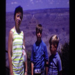 1969: sight seeing during family vacation to the grand canyon ARIZONA Stock Footage
