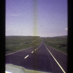 1969: traveling on highway 66 in the nineteen sixties. ARIZONA Stock Footage