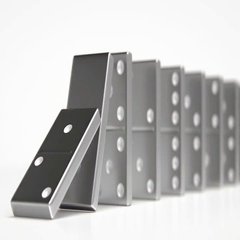 Domino Effect Risk Insurance Concept Stock Footage