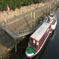 4k People and tours ship at sunny river Weser promenade Bremen Schlachte 4k or 4k+ Resolution
