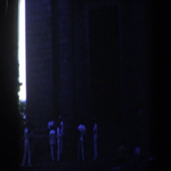 1961: random people standing outside of a church building. BALTIMORE MARYLAND Stock Footage