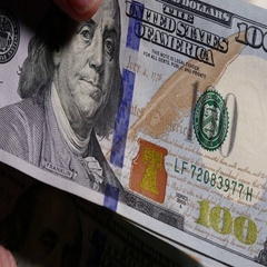 Rotating 100 Dollar Bills Background. Closeup Male Is Counting Money. Stock Footage
