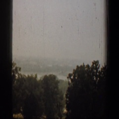 1961: a panorama of a serene landscape full of trees on a cloudy day WASHINGTON Stock Footage