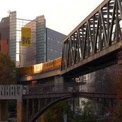 Berlin Ubahn at Anhalt station Stock Footage