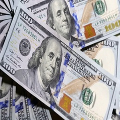 Rotating 100 Dollar Bills Background Stock Footage