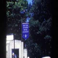 1961: young men in uniform outside entrance to us naval academy BALTIMORE Stock Footage