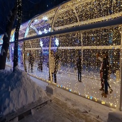 Christmas decorations Moscow for New Year Stock Footage