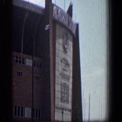 1961: street view of memorial stadium. WASHINGTON DC Stock Footage