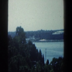 1961: a beautiful city with skyscrapers, trees, vegetation, lakes, etc BALTIMORE Stock Footage