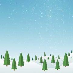 Christmas Landscape (seamless loop) Stock Footage