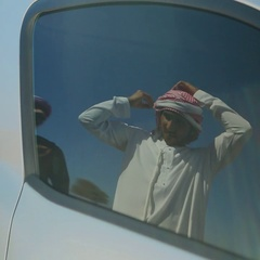 Emirati men greeting each other. Stock Footage