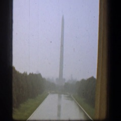 1961: The Washington Monument is an obelisk on the National Mall in Washington Stock Footage