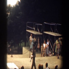 1961: guard marches at tomb of the unknown soldier WASHINGTON DC Stock Footage