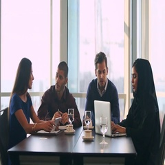 Business people discussing in conference room. Arkistovideo