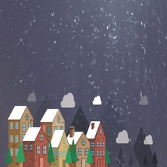 Christmas City Background (seamless loop) Stock Footage