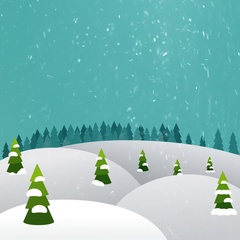 Christmas Landscape (seamless loop) Stock Footage